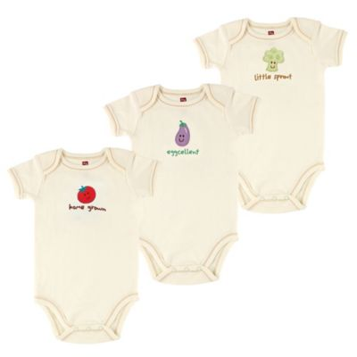 "BabyVision® Touched by Nature Size 0-3M 3-Pack ""Tomato"" Organic Cotton Bodysuits"
