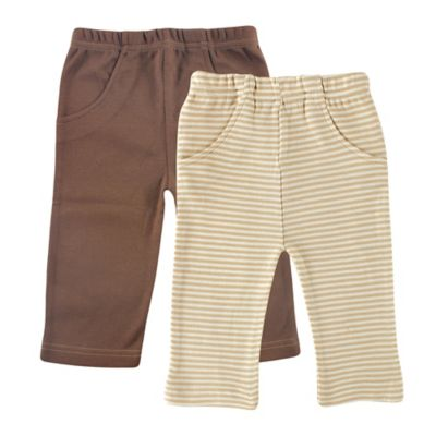 BabyVision® Touched by Nature Size 0-3M 2-Pack Organic Cotton Pants in Beige/Brown