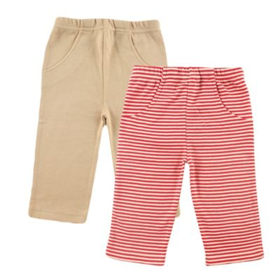 BabyVision® Touched by Nature Size 6-9M 2-Pack Organic Cotton Pants in Red/Beige