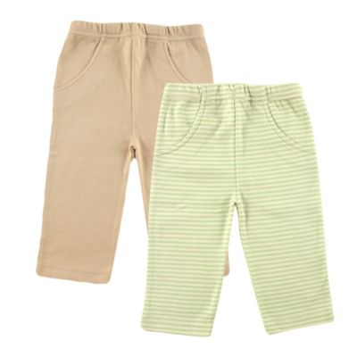 BabyVision® Touched by Nature Size 3-6M 2-Pack Organic Cotton Pants in Green/Beige