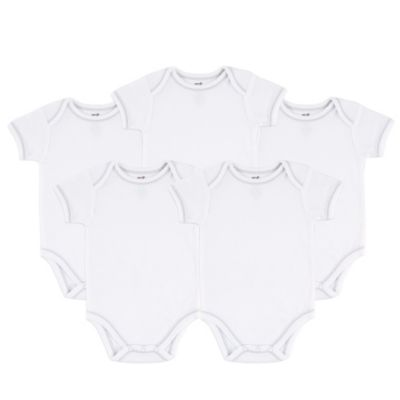 BabyVision® Touched by Nature Size 0-3M 5-Pack Organic Cotton Short Sleeve Bodysuits in White