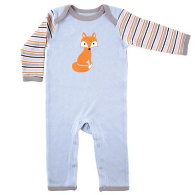 BabyVision® Luvable Friends® Size 0-3M Fox Coverall in Blue