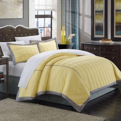 Chic Home Jasmine 3-Piece Queen Duvet Cover Set in Yellow