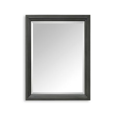 Avanity Thompson 24-Inch x 30-Inch Rectangular Mirror in Charcoal