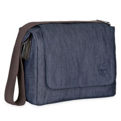 Lassig® Green Label Small Messenger Diaper Bag in Denim Blue