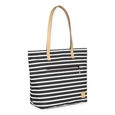 Lassig® Casual Striped Tote Diaper Bag in Black/White