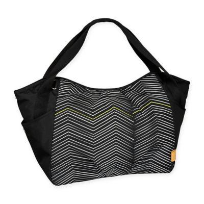 Lassig® Casual Twin Zigzag Diaper Bag in Black/White