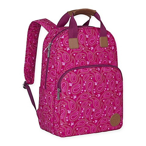 buy lassig vintage backpack diaper bag in paisley pink from bed bath beyond. Black Bedroom Furniture Sets. Home Design Ideas
