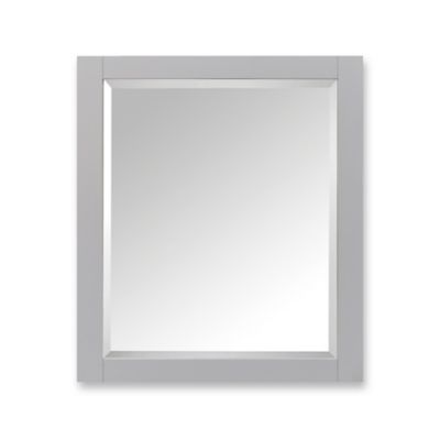 Avanity Wood Framed Mirror Cabinet in Chilled Grey
