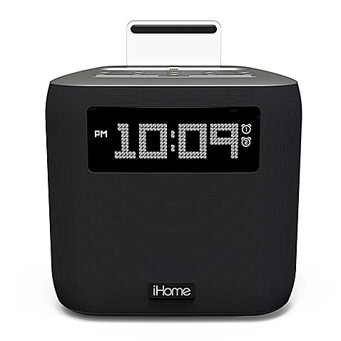 ihome ipl24 dual alarm fm clock radio with lightning connector. Black Bedroom Furniture Sets. Home Design Ideas