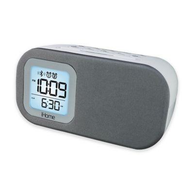 iHome™ iBT210 Bluetooth® Dual Alarm Clock FM Radio and Speakerphone in White