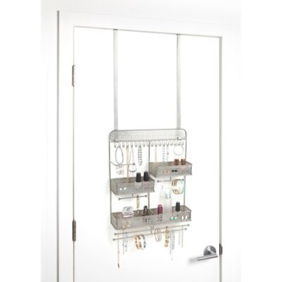 Juliette Over-the-Door Jewelry Organizer in Silver