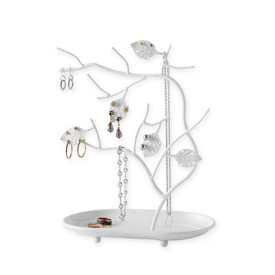 Jewelry Tree Organizer in White