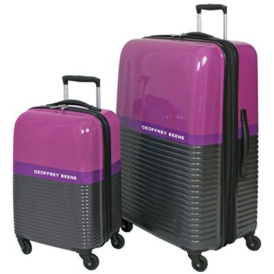 Geoffrey Beene Ultra Light 2-Piece Hardside Luggage Set in Purple