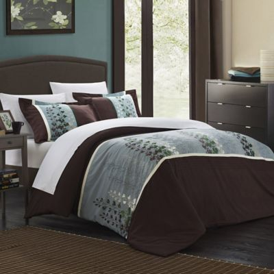 Chic Home Vero 3-Piece King Duvet Cover Set in Brown