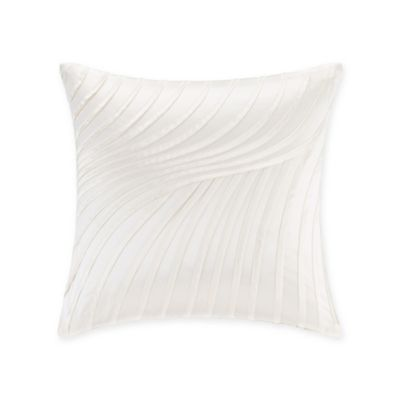 Natori® Canton Pleated Square Throw Pillow in Ivory