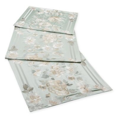 Natori® Canton Bed Runner in Light Aqua