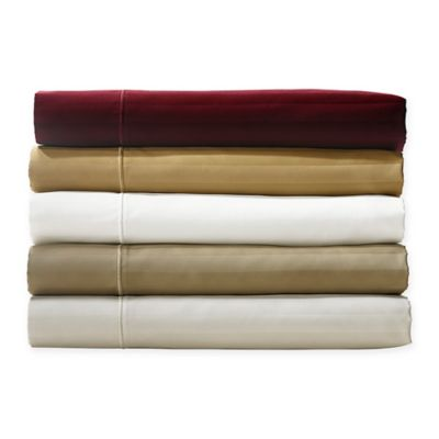 Crowning Touch by Welspun 500-Thread-Count Damask Stripe Twin Sheet Set in Pebble