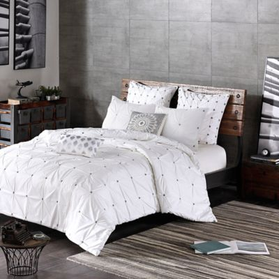 INK+IVY Masie 3-Piece Full/Queen Comforter Set in White