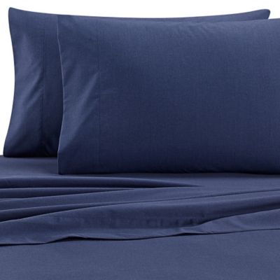 Izod® Cross-Dyed 200-Thread-Count Twin Sheet Set in Navy