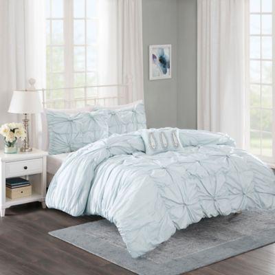 Madison Park Harlow 4-Piece Full/Queen Comforter Set in Seafoam