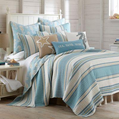 Levtex Home Blue Maui Reversible Full/Queen Quilt Set