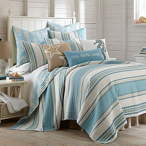Levtex Home Blue Maui Reversible Quilt Set Www