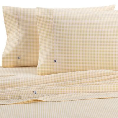 Izod® Gingham 220-Thread-Count Twin XL Sheet Set in Yellow