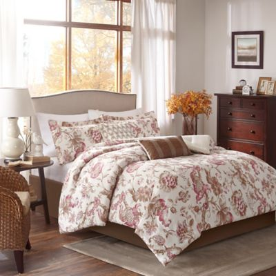 Harbor House® Manchester King 6-Piece Comforter Set in Brown/Red
