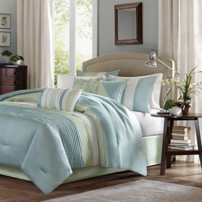 Madison Park Carter 7-Piece Full Comforter Set in Green