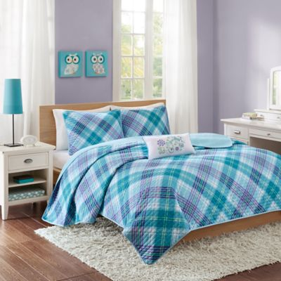 Mi Zone Reese Twin/Twin XL Coverlet Set in Teal