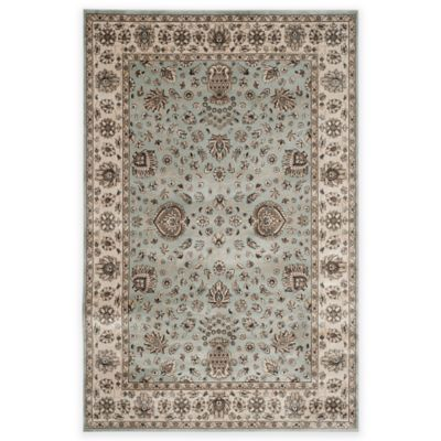 Safavieh Persian Garden Cypress 6-Foot 7-Inch x 9-Foot 2-Inch Area Rug in Light Blue/Ivory