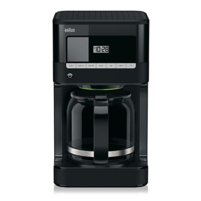 Braun BrewSense Fully Programmable Drip Coffee Maker with PureFlavor Brewing System in Black