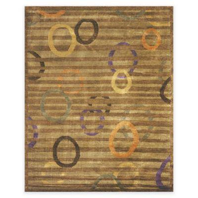 Feizy Keystone Circles 7-Foot 9-Inch x 9-Foot 9-Inch Multicolor Area Rug