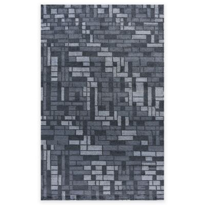 Feizy Keystone Crest 2-Foot x 3-Foot Accent Rug in Midnight