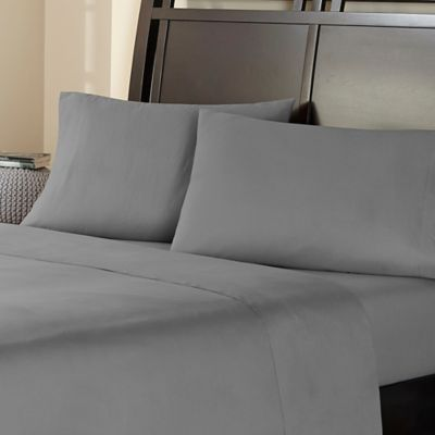 Amaze 310-Thread-Count Ultimate Performance Full Sheet Set in Pewter