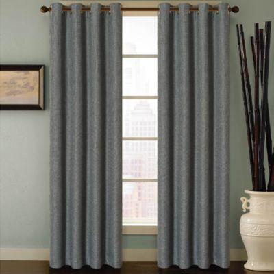 Buy Reina 132 Inch Grommet Top Window Curtain Panel In