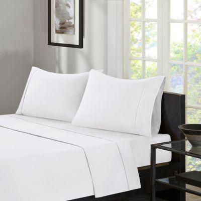 Sleep Philosophy® Adjusta Fit™ 300-Thread-Count King Sheet Set in White