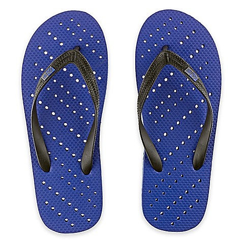 unisex diagonal hole aquaflops shower shoes in royal blue aquaflops shower shoes bed bath amp beyond