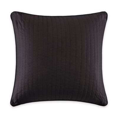 INK+IVY Camila Quilted European Pillow Sham in Black