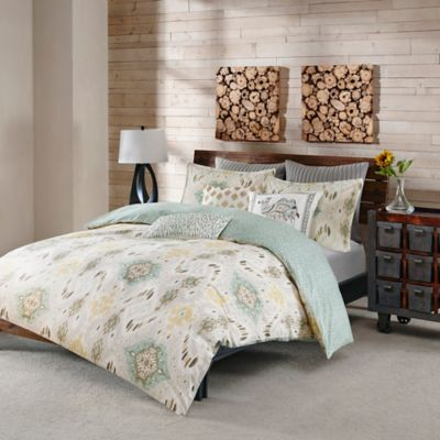 INK+IVY Nia Reversible Full/Queen Duvet Cover Set in Spice