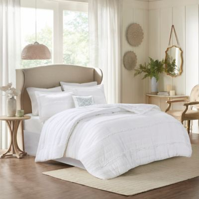 Madison Park Celeste Full/Queen Coverlet-to-Duvet Cover Set in White
