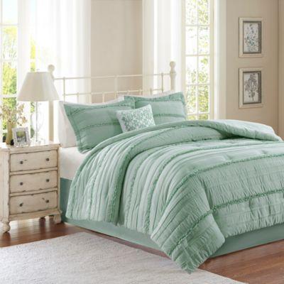 Madison Park Celeste 5-Piece Queen Comforter Set in Green