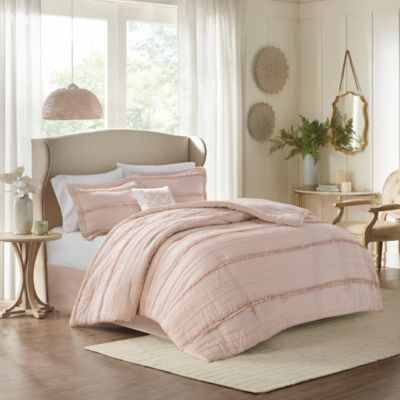 Madison Park Celeste 5-Piece Queen Comforter Set in Pink
