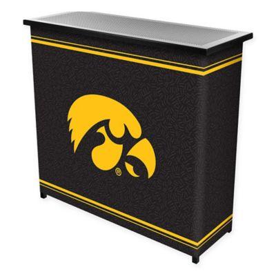 NCAA University of Iowa Portable Bar with Case