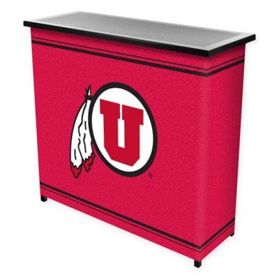 NCAA University of Utah Portable Bar with Case