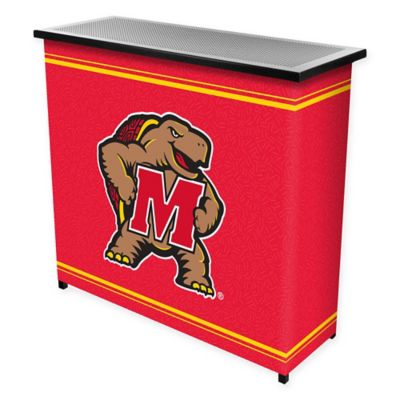 NCAA University of Maryland Portable Bar with Case