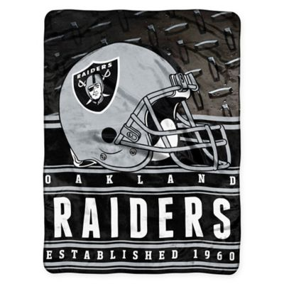 NFL Oakland Raiders Silk Touch Throw Blanket by The Northwest