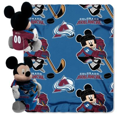 NHL Colorado Avalanche & Mickey Hugger and Throw Blanket Set by The Northwest