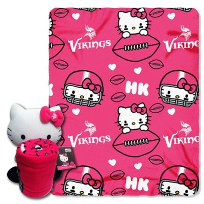NFL Minnesota Vikings & Hello Kitty Hugger and Throw Blanket Set by The Northwest
